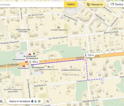 map Lvivska 17